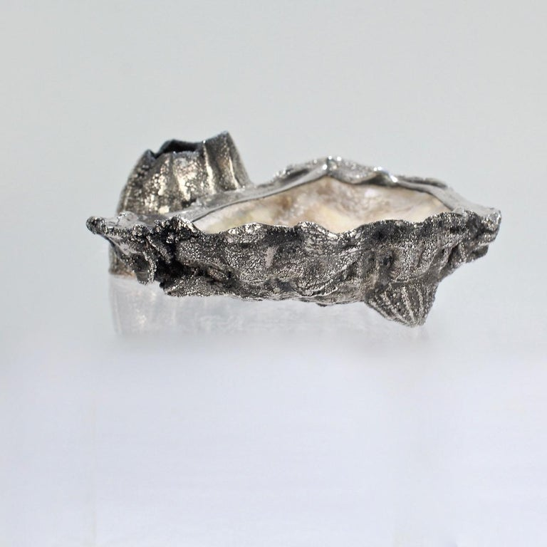 Carl Schon Sterling Silver and Oyster Shell Atlantic Yacht Club Ashtray Trophy For Sale 2