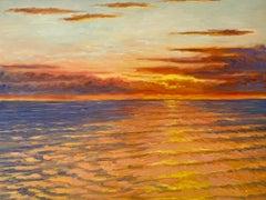 Impressionistic Sunset -- Sun setting off Long Island's East End, New York.