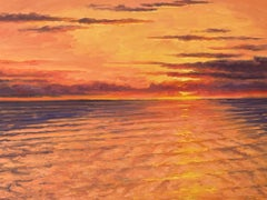 Impressionistic Sunset -- Sunset ablaze off Long Island's East End, New York.