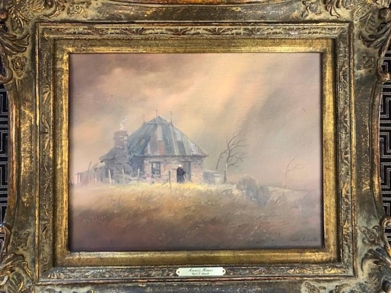 Born in Kress, Texas in 1928, the artist, Carl J. Smith, was the ninth child in a family of ten. Most of his life he has spent living in the high plains of West Texas. After a two year stint in the Army, Smith earned his BS degree from West Texas