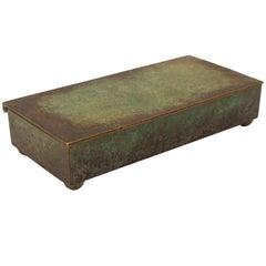 Carl Sorensen Arts & Crafts Verdigris Bronze Box