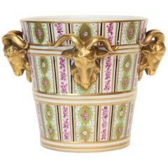 Carl Thieme Dresden Porcelain Cache Pot