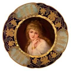 Carl Thieme, Dresden Porcelain Portrait Plate, c. 1900