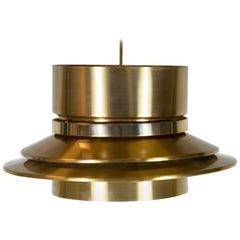 Carl Thore Brass Pendant for Granhage Metalindustri Sweden 1960s