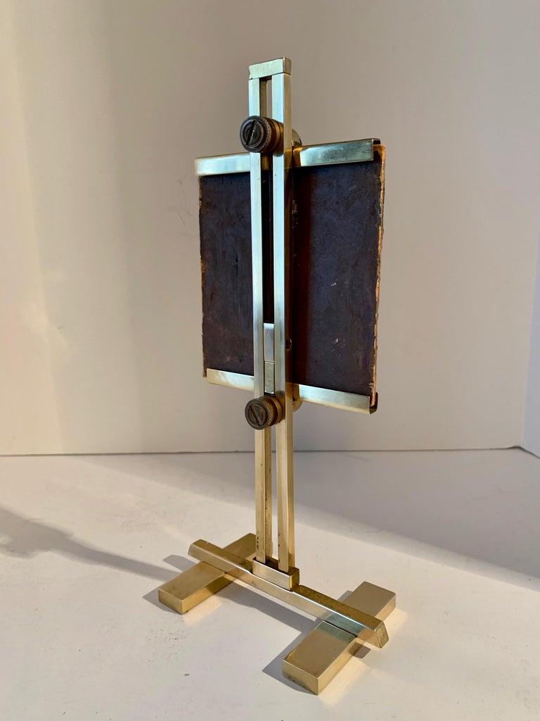 Carl V. Meyer Original Painting on Miniature Brass Desk Easel For Sale 5
