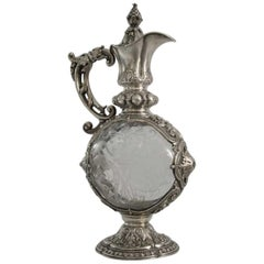 Carl Weishaupt Silver and Glass Jug