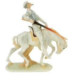 Carl Werner Don Quichote for Hutschenreuther Kunstabteilung