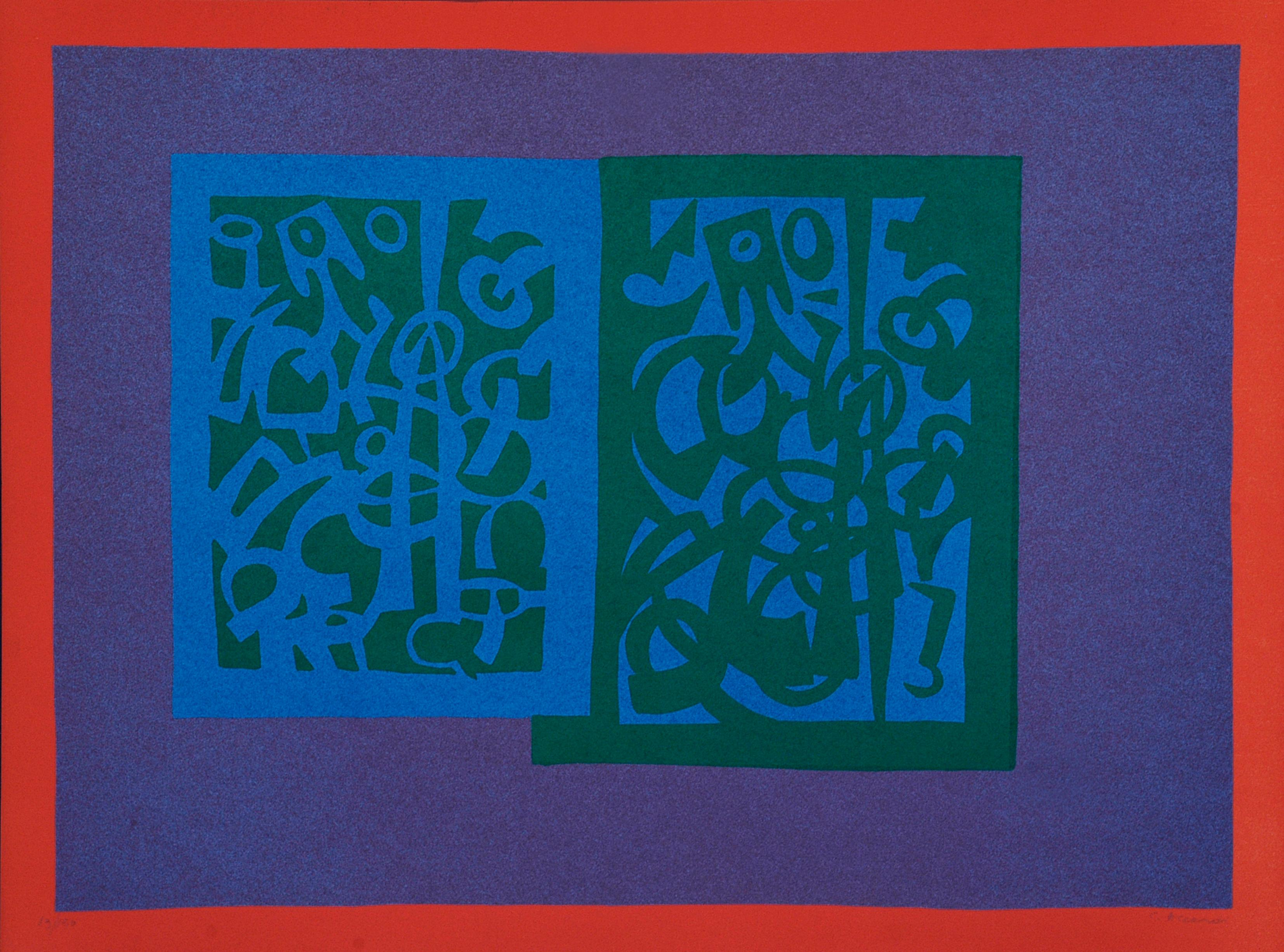 Abstract - Original Lithograph by Carla Accardi - 1970 ca.