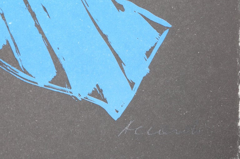 Blu, Lithography by Carla Accardi  For Sale 1