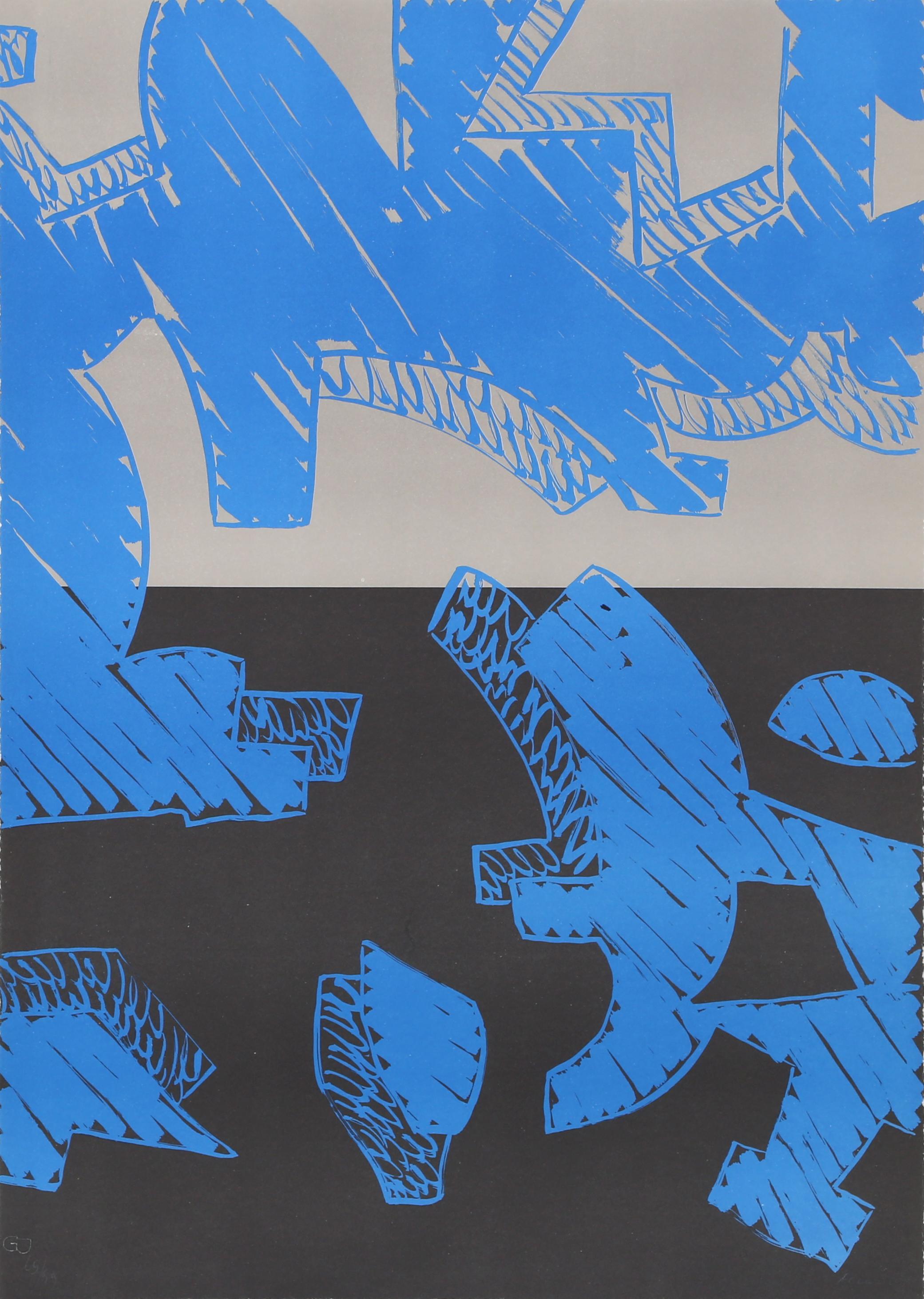 Blu, Lithography by Carla Accardi
