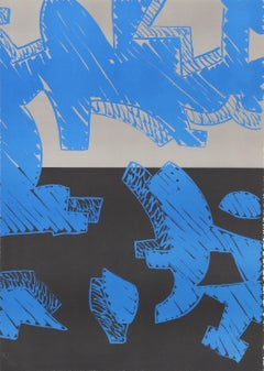 Blu, Lithography by Carla Accardi