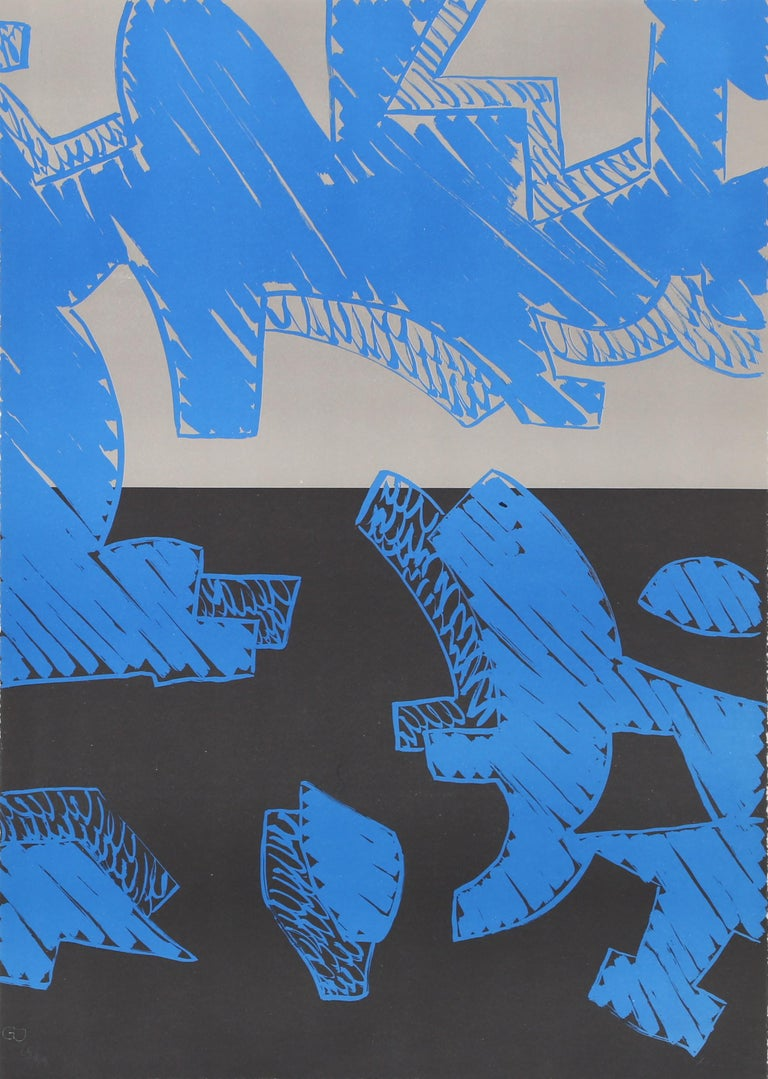 Artist: Carla Accardi, Italian (1924 - 2014) Title: Blu Year: 2000 Medium: Lithograph, signed and numbered in pencil Edition: 35/60 Size: 27.5 x 19.5 in. (69.85 x 49.53 cm)