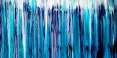 A Crush on Indigo (#2), Painting, Acrylic on Canvas