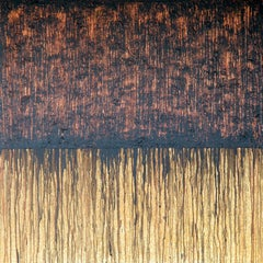 Black Copper No. 1 (On cork), Painting, Acrylic on Canvas