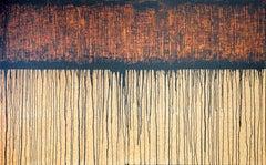 Black Orange No. 2 (On Cork), Painting, Acrylic on Other