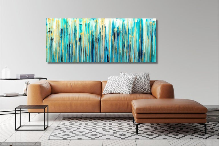 The Emotional Creation #269, Painting, Acrylic on Canvas - Blue Abstract Painting by Carla Sá Fernandes