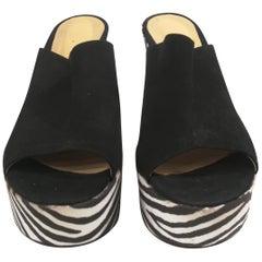 Carla Sanchez Zebra Wedge Heels