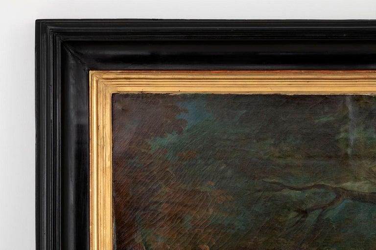 Carle Van Loo, La Halte De Chasse Oil on Canvas, 19th Century French School For Sale 2