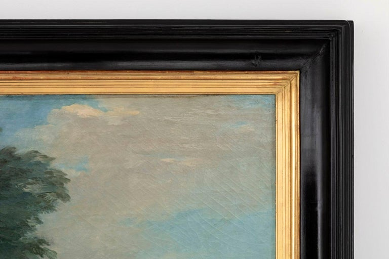 Carle Van Loo, La Halte De Chasse Oil on Canvas, 19th Century French School For Sale 3
