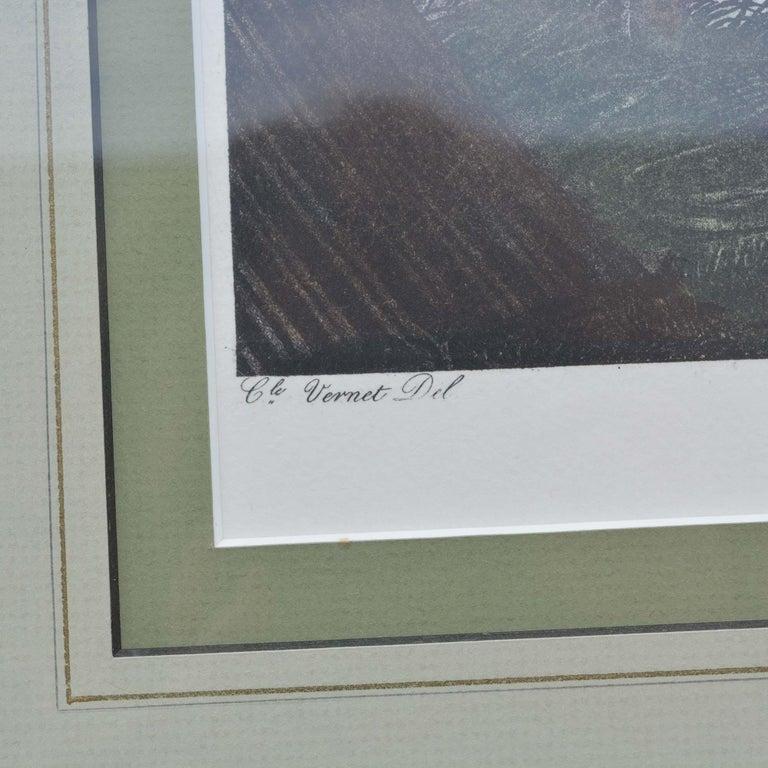 Directoire Carle Vernet Le Depart Framed Equestrian Print For Sale