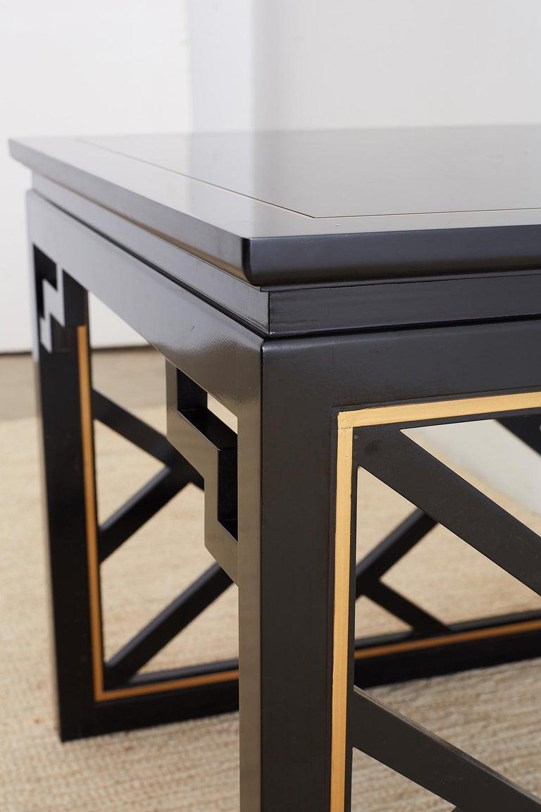 Carleton Varney for Kindel Lacquered Trellis Tables For Sale 6