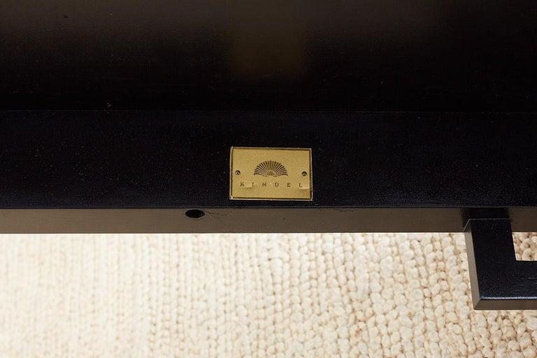 Carleton Varney for Kindel Lacquered Trellis Tables For Sale 11