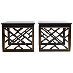Carleton Varney for Kindel Lacquered Trellis Tables