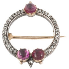 Carlo & Arthur Giuliano Antique Brooch Rubies & Diamonds, English circa 1895