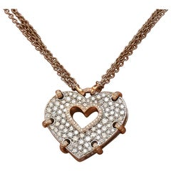 Carlo Barberis 18KT White and Rose Gold & 3.00Ct. Diamond Heart Pendant Necklace