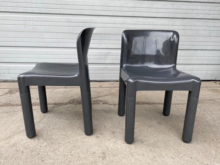 Mid-Century Modern Carlo Bartoli Chair Model 4875 for Kartell, Italy, 1970s For Sale