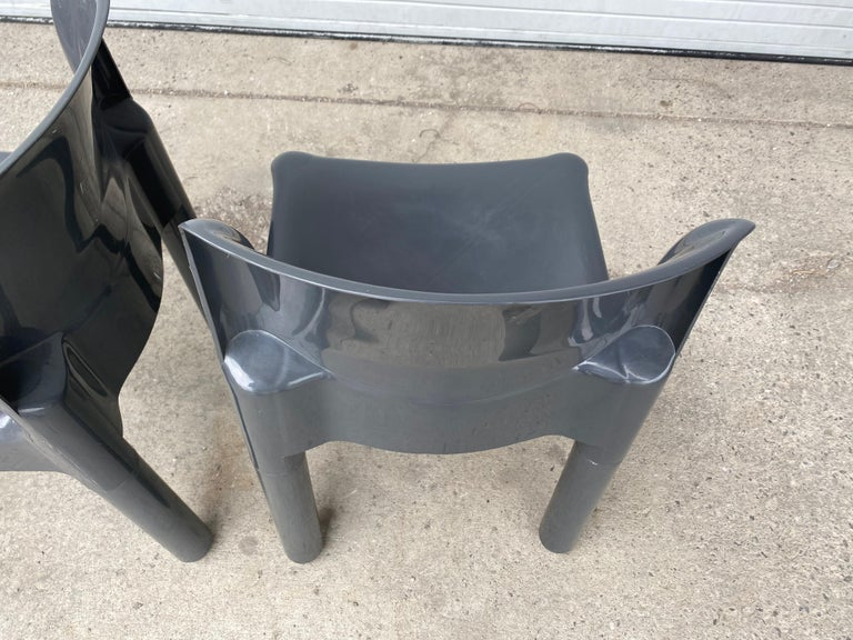 Carlo Bartoli Chair Model 4875 for Kartell, Italy, 1970s In Good Condition For Sale In Buffalo, NY