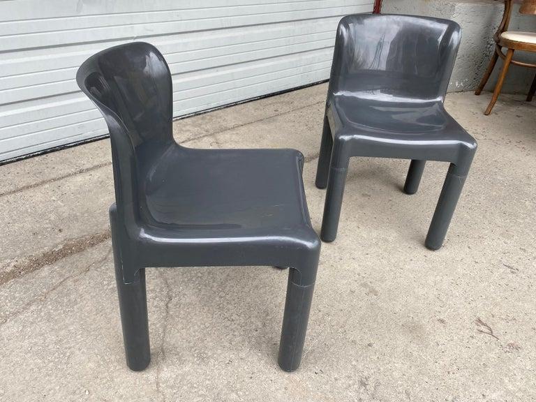 Plastic Carlo Bartoli Chair Model 4875 for Kartell, Italy, 1970s For Sale
