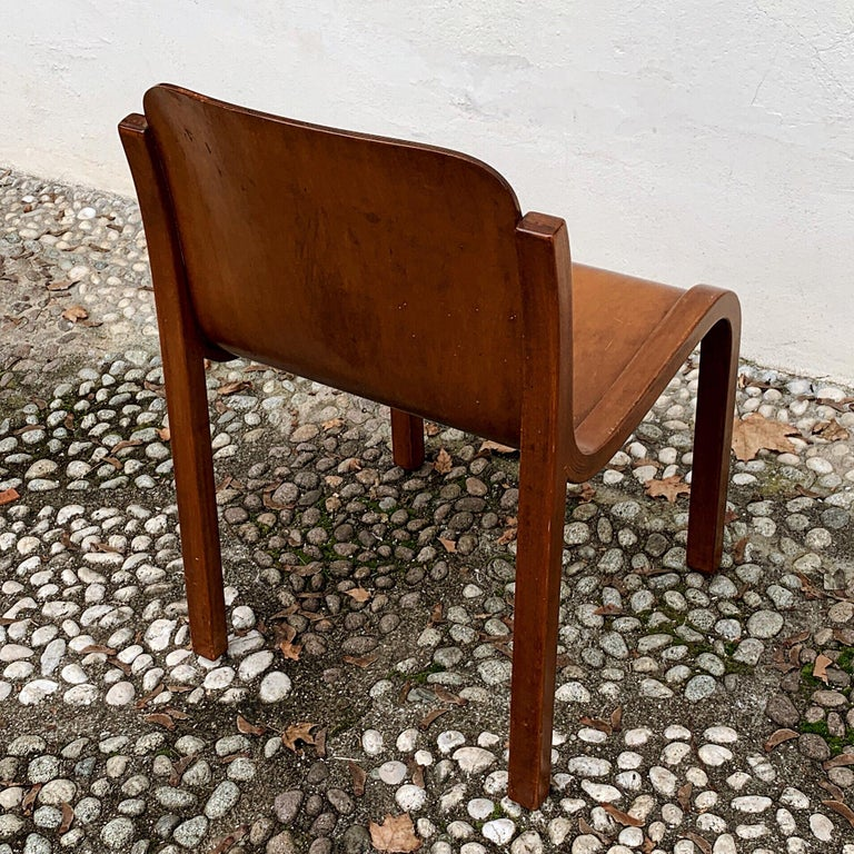 """Carlo Bartoli Midcentury Plywood Dining Chairs """"Mito"""" for T70, 1969, Set of 6 19"""
