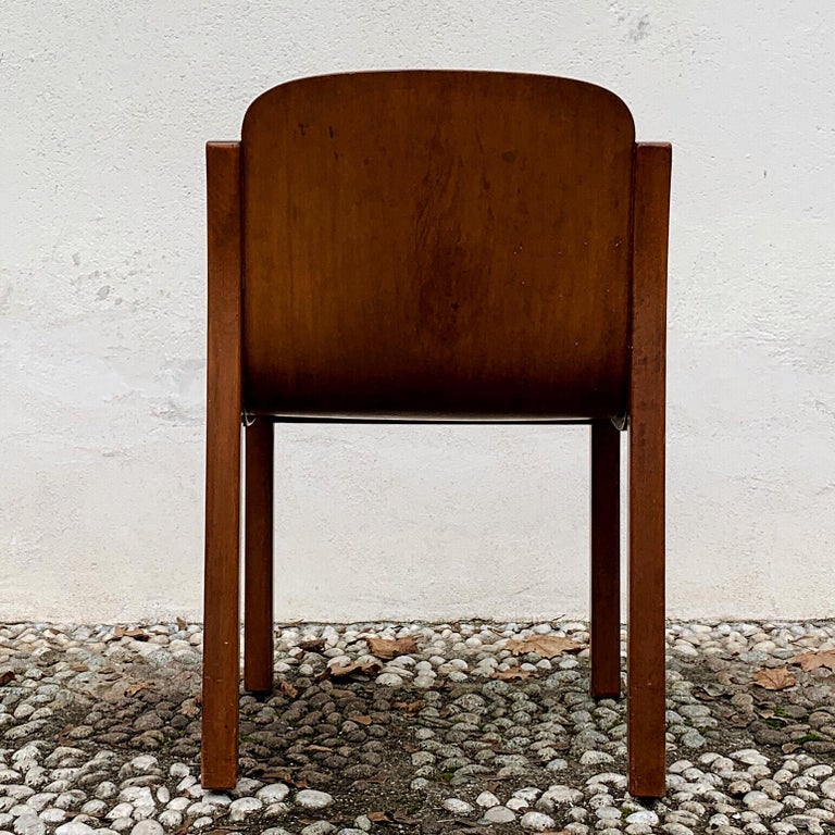 """Carlo Bartoli Midcentury Plywood Dining Chairs """"Mito"""" for T70, 1969, Set of 6 20"""