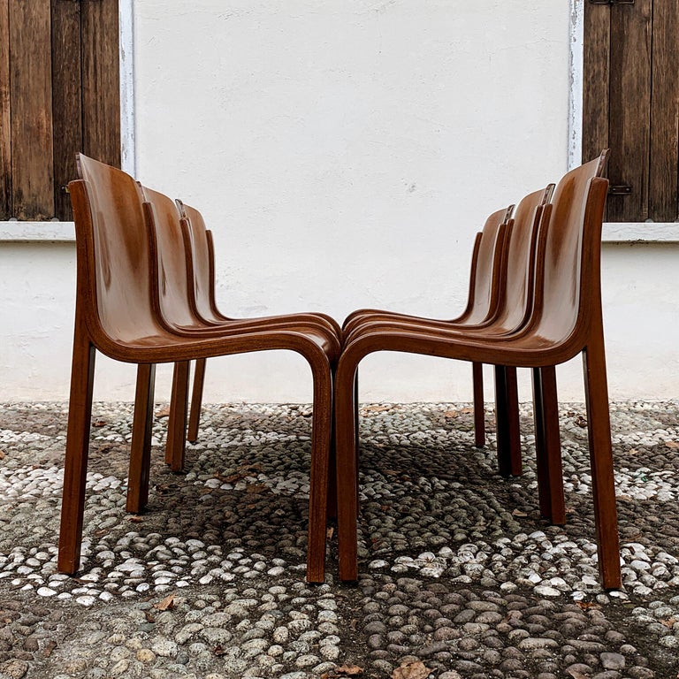 """Carlo Bartoli Midcentury Plywood Dining Chairs """"Mito"""" for T70, 1969, Set of 6 9"""