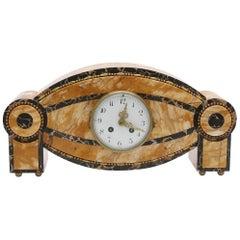 Carlo Bugatti Style Art Deco Marble Clock