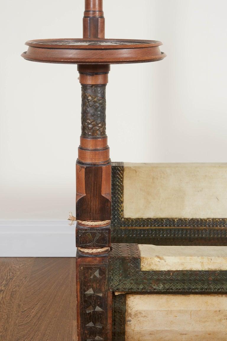 Carlo Bugatti Throne Chair In Ebonized Wood Vellum And