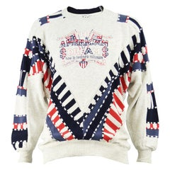 Carlo Colucci Men's Vintage 'The American Dream' Textured Knit Sweater, 1980s