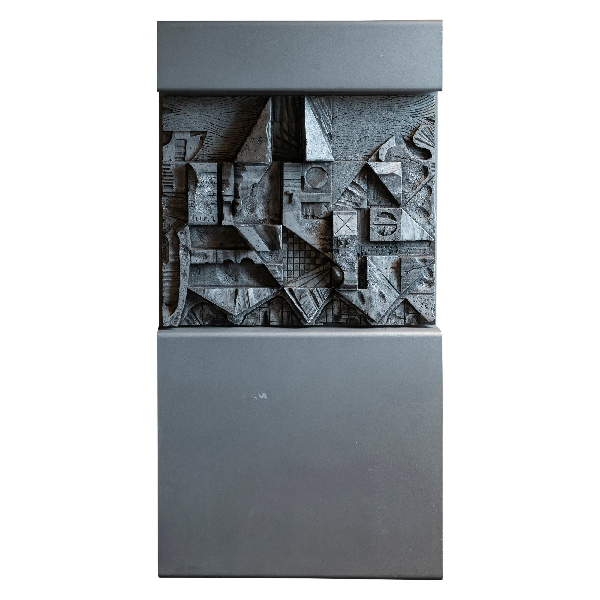 Carlo Damerini Freestanding Abstract Sculpture, Italy, 1978