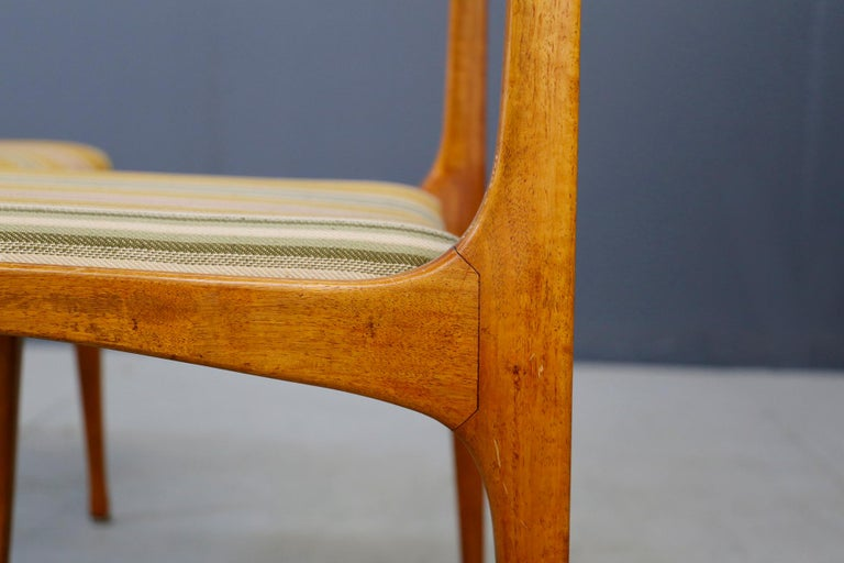 Wood Carlo de Carli Chair Midcentury for Cassina Model 693, 1950s For Sale