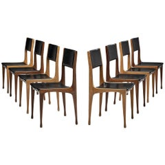 Carlo de Carli for Cassina Bicolour Set of Eight Dining Room Chairs