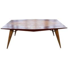 Carlo de Carli for Tecno, Rare Mid-Century Wooden Table 1950s