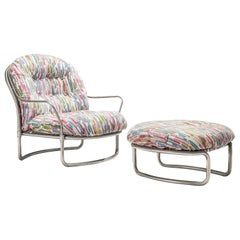 Carlo de Carli Lounge Chair Model '915' in Colorful Upholstery