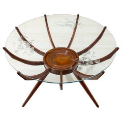 "Carlo De Carli Mid-Century Modern Italian ""Spider"" Coffee Table, 1950"