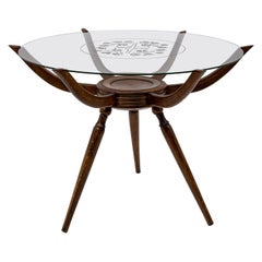 "Carlo De Carli Mid-Century Modern Italian ""Spider"" Coffee Table, 1950"