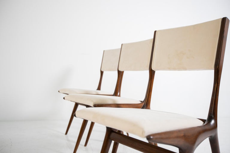 Carlo de Carli Model 158, Set of Six Dining Chairs for Cassina, 1953 For Sale 4