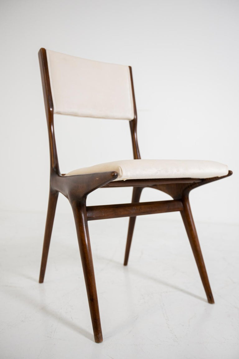 Carlo de Carli Model 158, Set of Six Dining Chairs for Cassina, 1953 For Sale 8