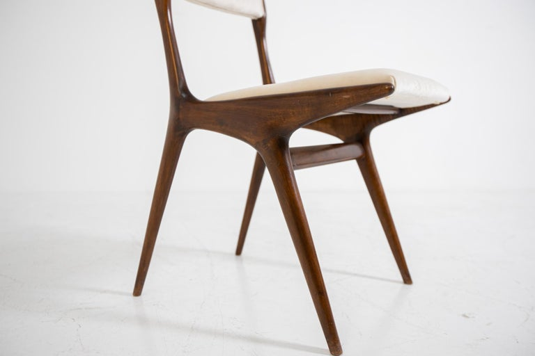 Carlo de Carli Model 158, Set of Six Dining Chairs for Cassina, 1953 For Sale 9