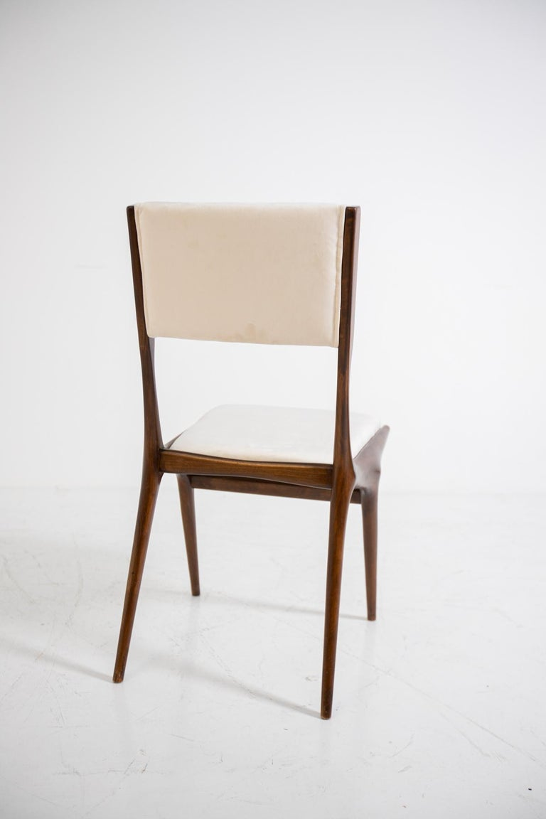Carlo de Carli Model 158, Set of Six Dining Chairs for Cassina, 1953 For Sale 12