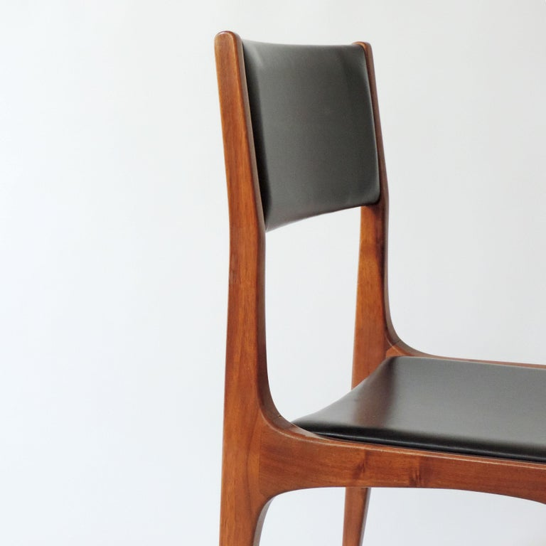 Carlo De Carli Set of Six Dining Chairs for Cassina, Italy, 1958 3